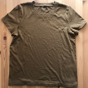 Madewell classic tee in brown, S